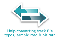How to convert sample and bit rates