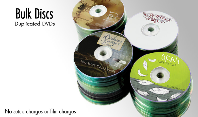 Duplicated DVDs in Bulk