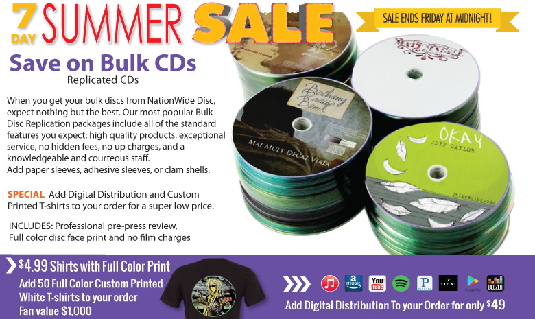 Bulk Replicated CDs - NationWide Disc