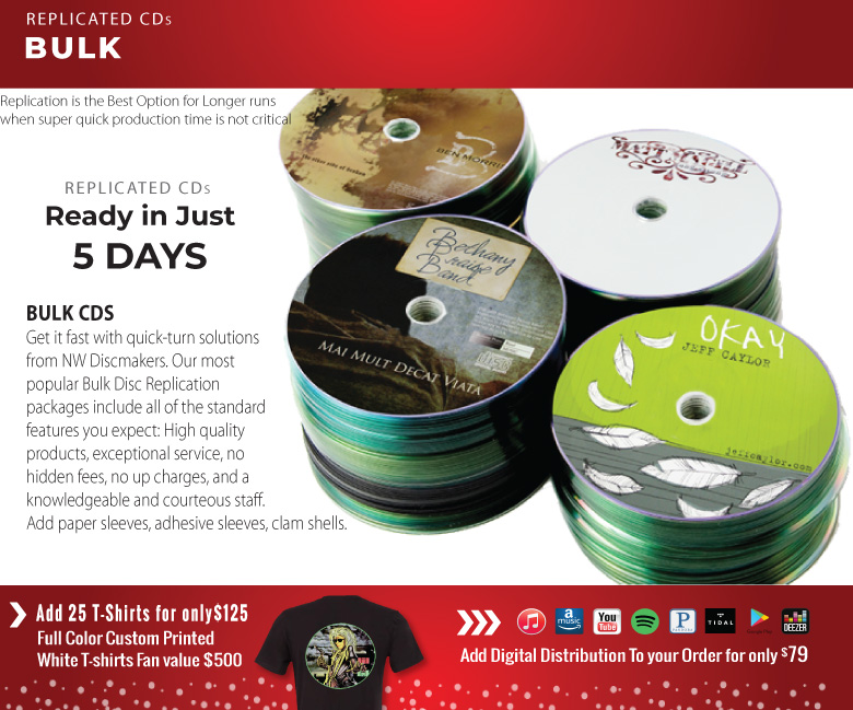 Holiday Sale Replicated CDs in Bulk