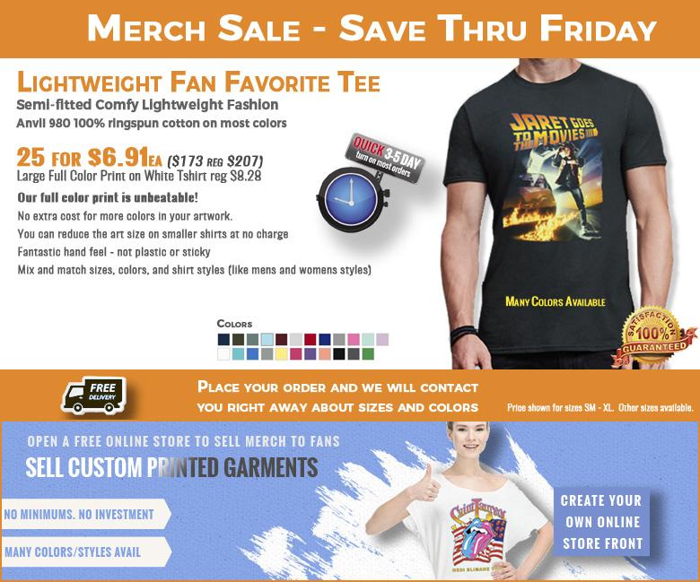 Anvil 980 Lightweight Tee shirt with print