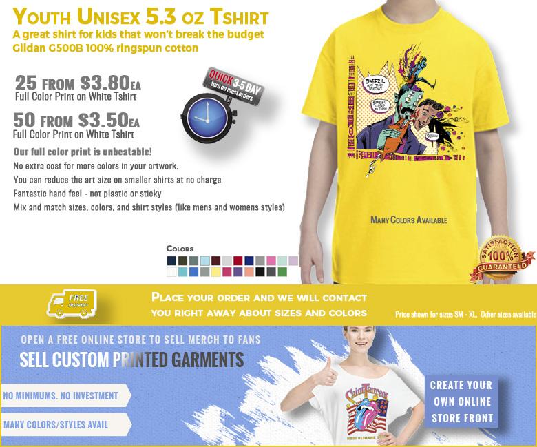 Gildan G500B Youth Tshirt with print