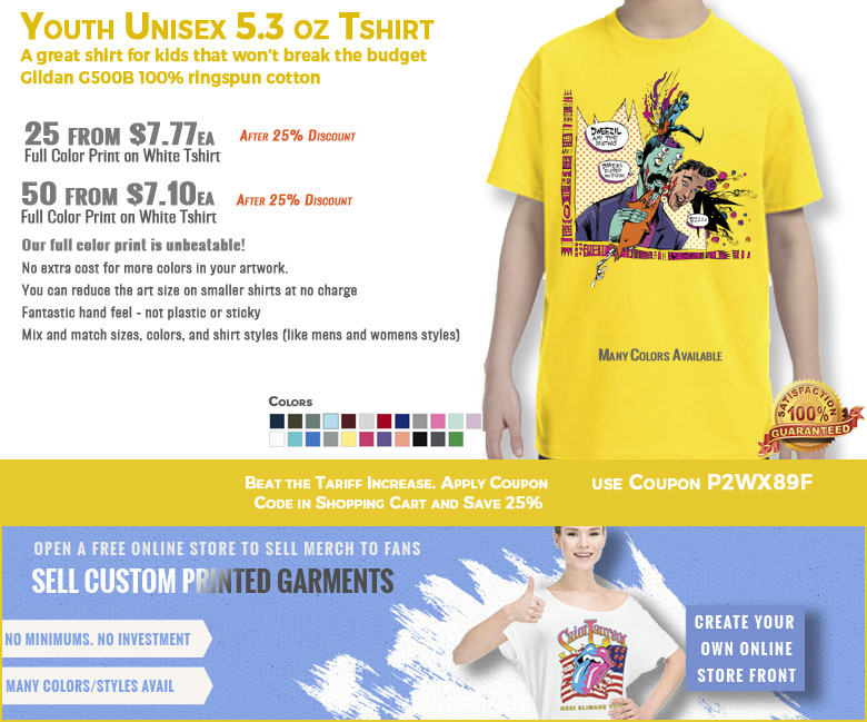 Gildan G500B Youth Tshirt Tariff