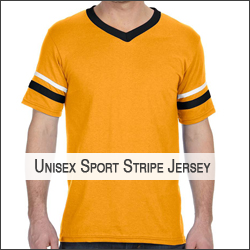 T-Augusta Sportswear AG360 V-Neck Jersey with Striped Sleeves