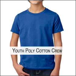 O-Next Level N3312 Youth CVC Cotton/Poly Crew