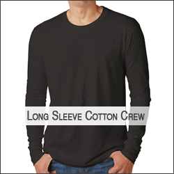H-Next Level N3601 Men's Cotton Long-Sleeve Crew