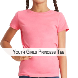 P-Next Level N3710 Youth Girls' Princess T-Shirt