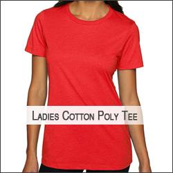 G-Next Level N6610 Ladies' CVC Cotton/Poly T-Shirt