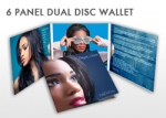 Duplicated DVD 6 Panel Dual Disc Wallet